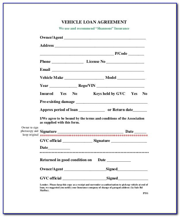Car Payment Agreement Template Word