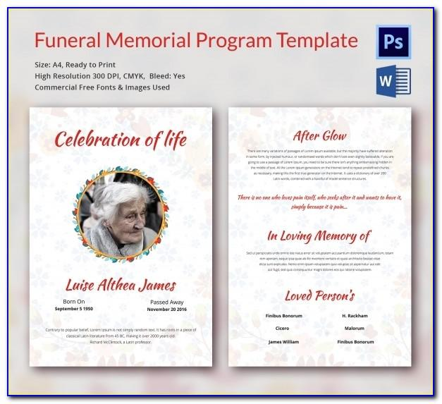 Catholic Funeral Brochure Templates