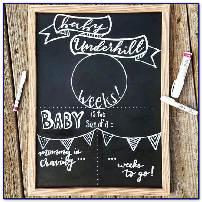 Chalkboard Baby Announcement Template