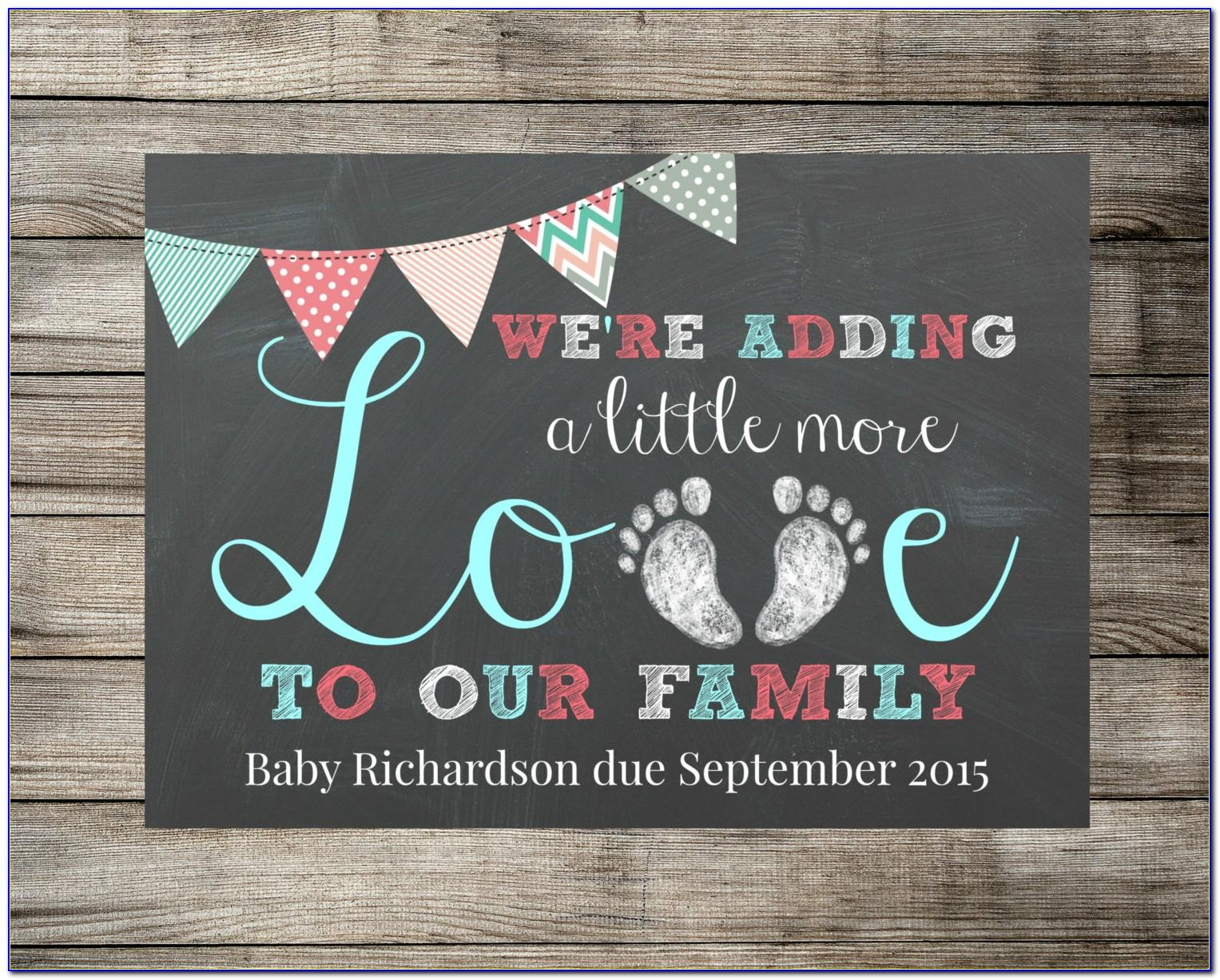 Chalkboard Birth Announcement Template