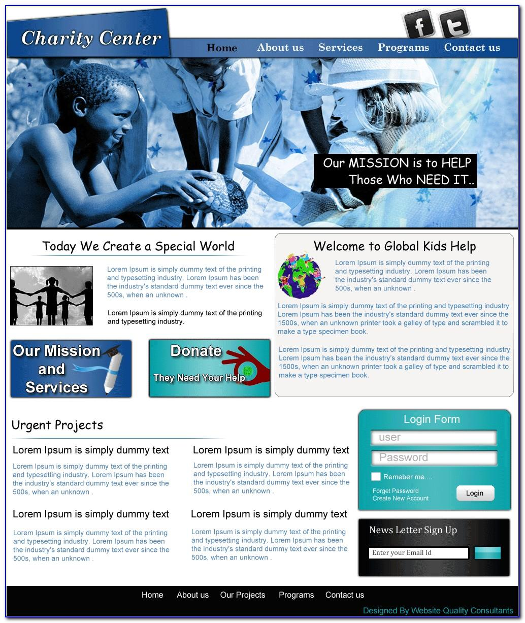 Charity Organizations Website Templates Free Download