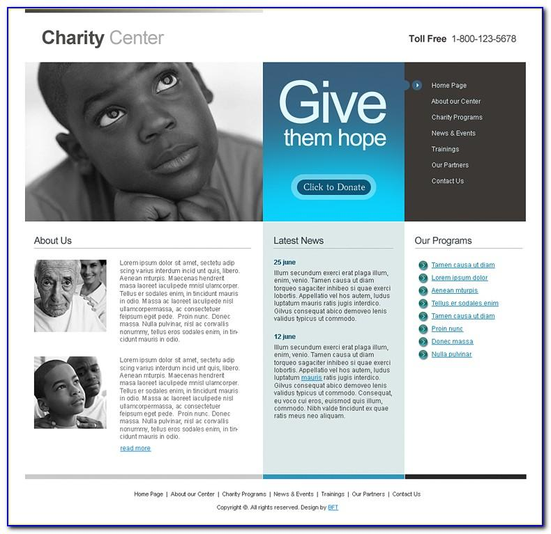 Charity Responsive Website Template Free Download