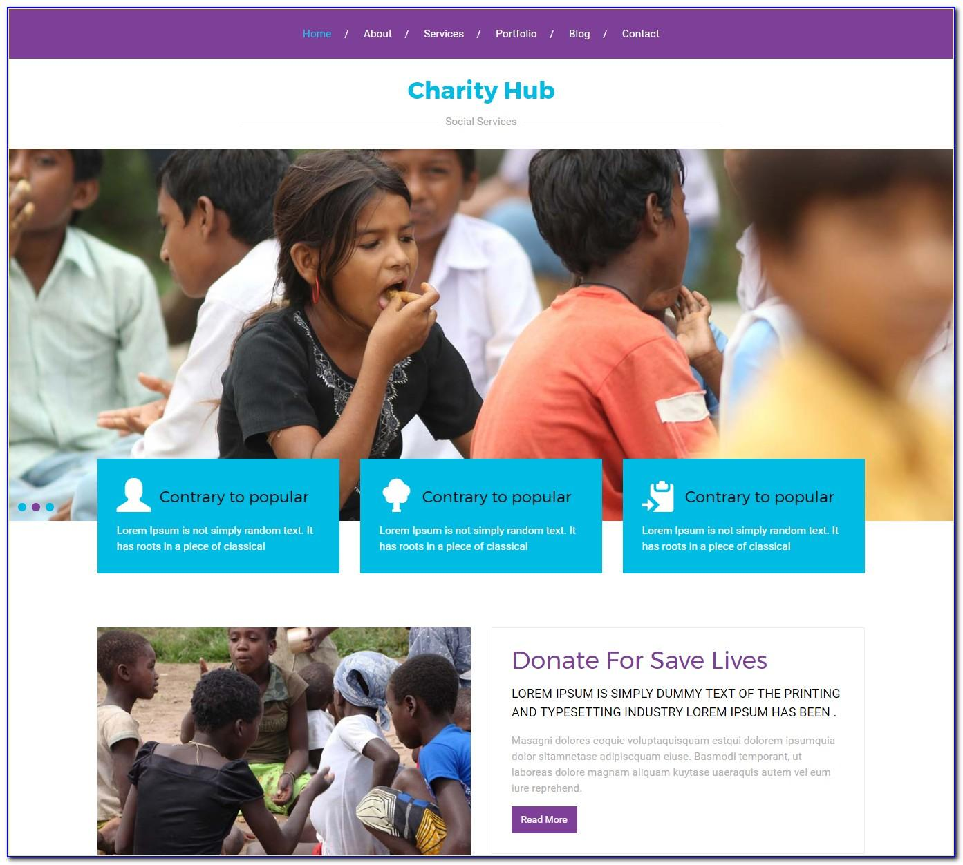 Charity Web Templates Free