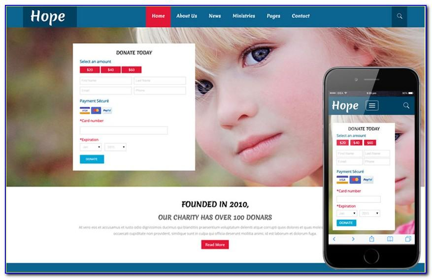 Charity Website Template Free