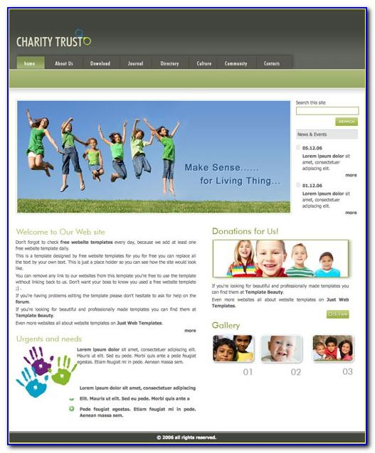 Charity Website Templates Free Download Html With Css