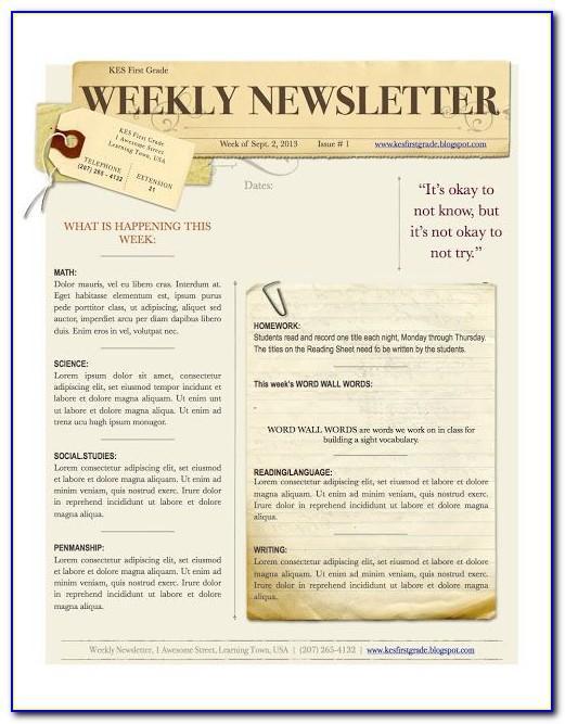 Children's Ministry Newsletter Template Free