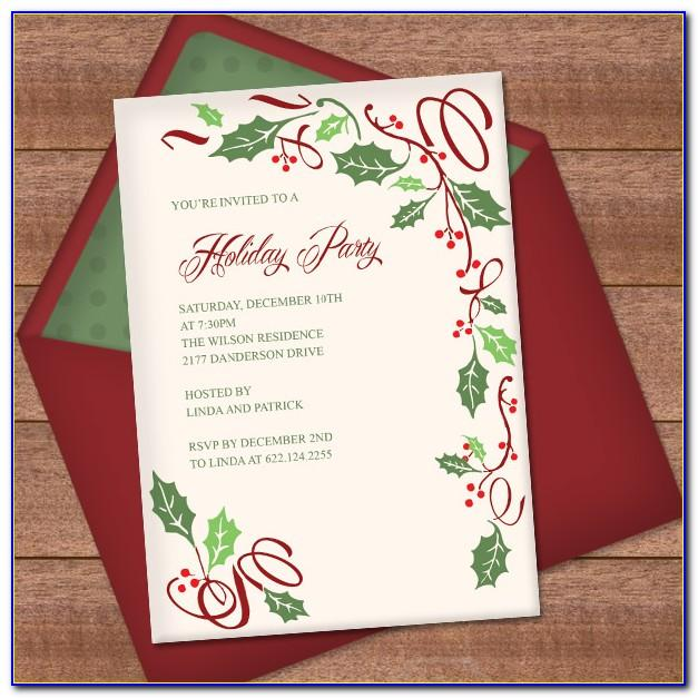 Christmas Invitation Design Templates