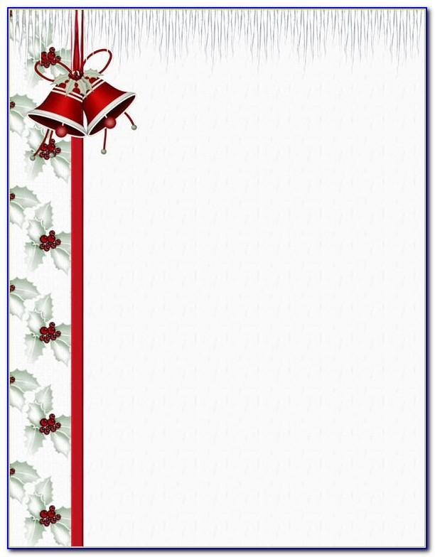 Christmas Stationery Templates For Email