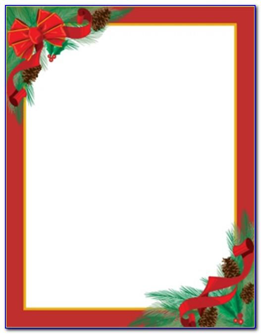 Christmas Stationery Templates Free Download