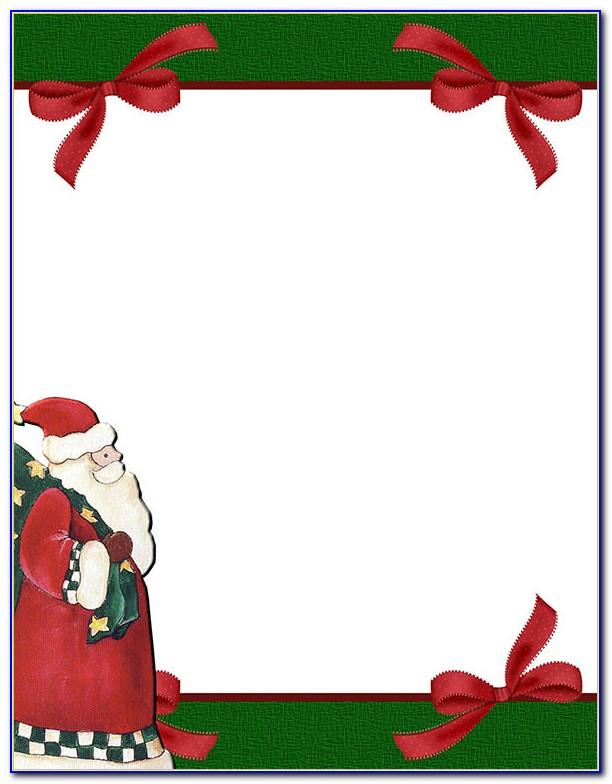Christmas Stationery Templates Free