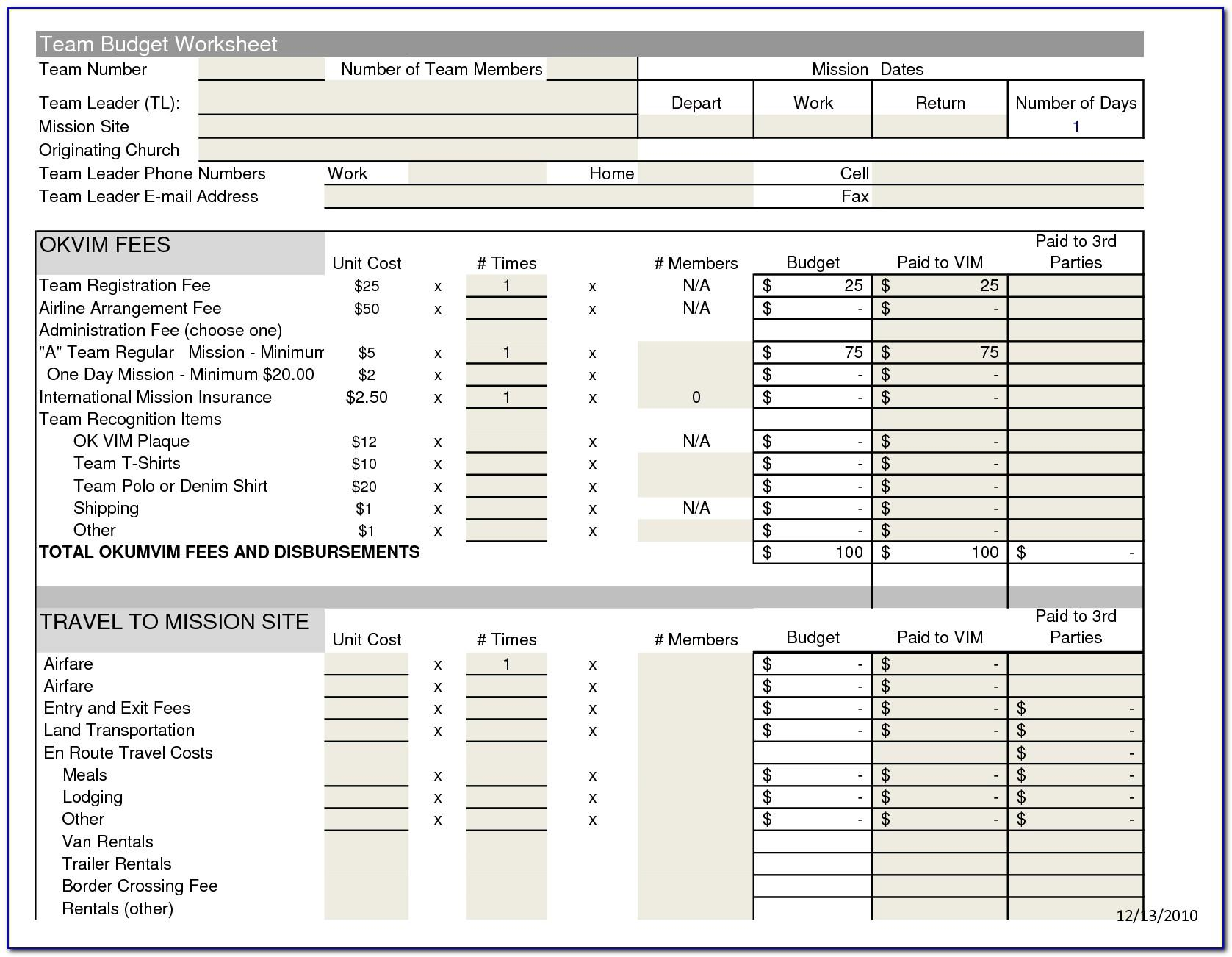 Church Financial Report Format