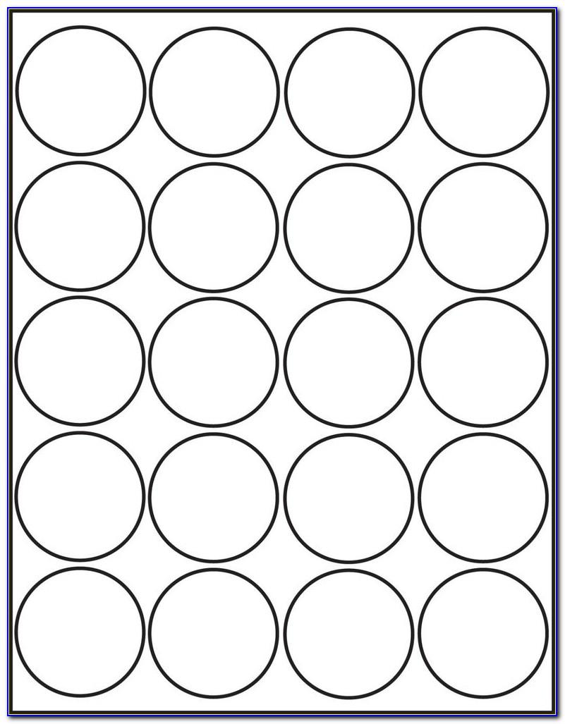 Circle Labels Template For Word