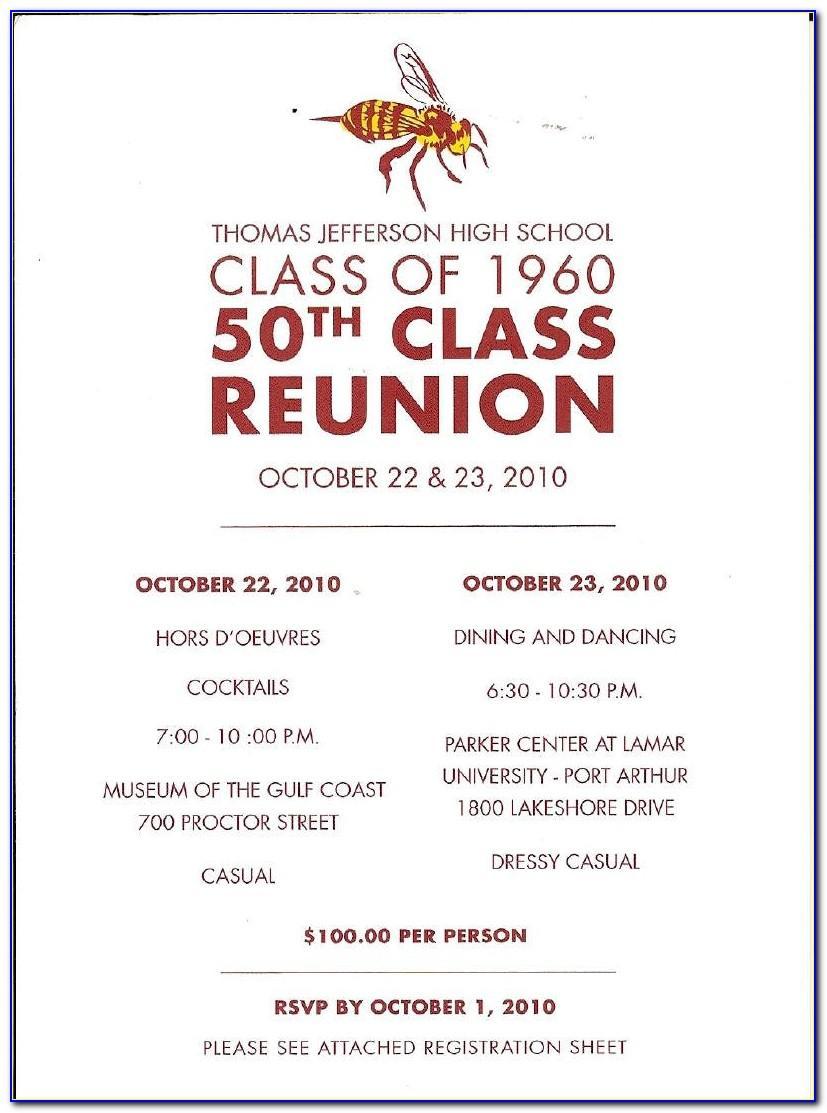 Class Reunion Flyer Template Word