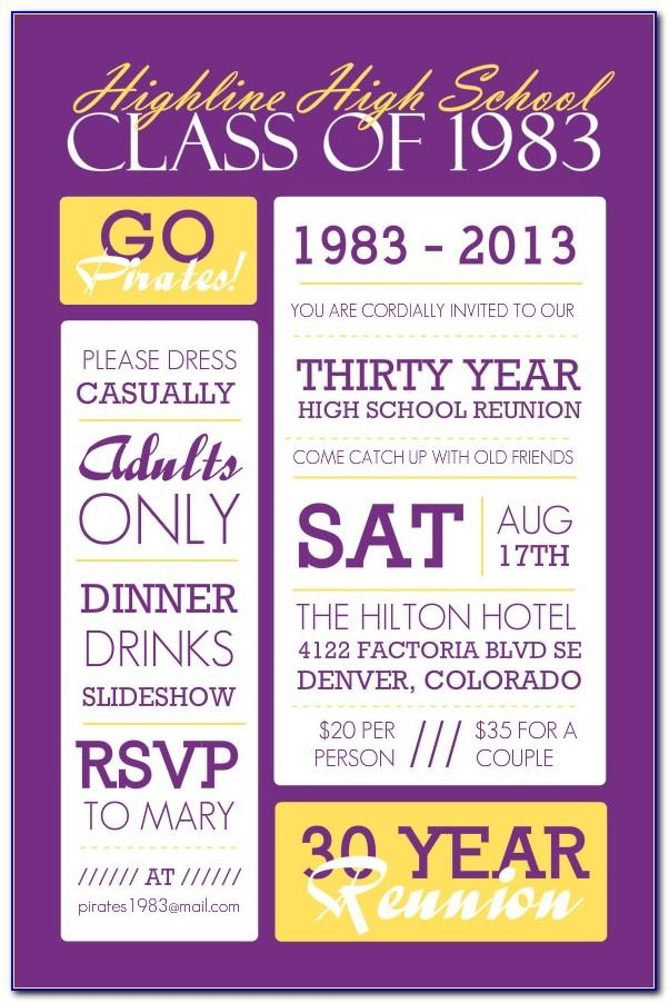Class Reunion Flyer Template