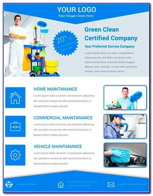 Cleaning Flyer Templates Word
