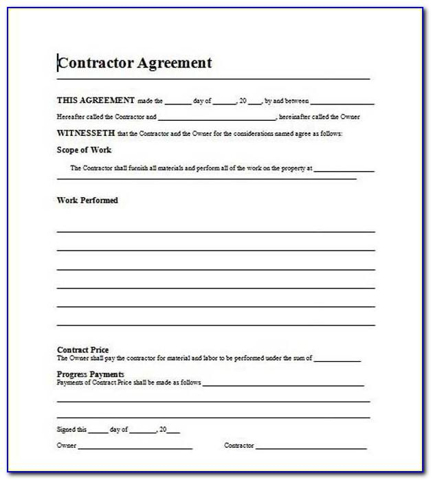 Construction Contract Template Google Docs