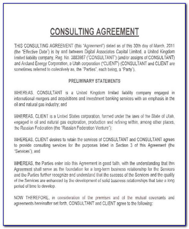 Consultancy Agreement Template Hong Kong