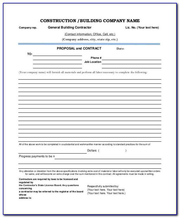 Contract Proposal Sample Pdf