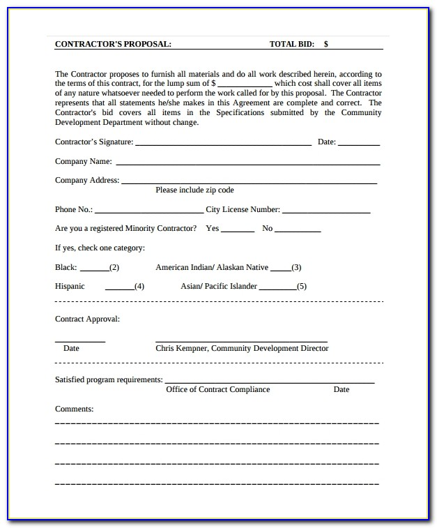 Contract Proposal Template Download