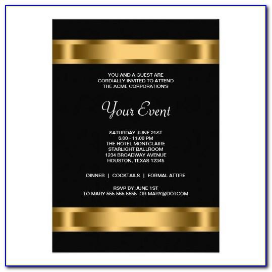 Corporate E Invite Template