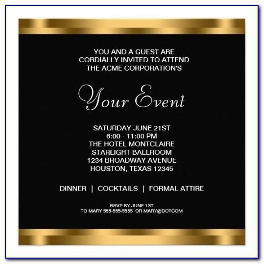 Corporate Invite Format