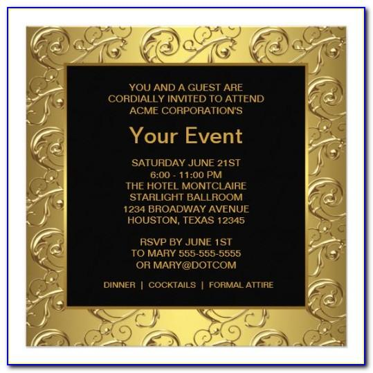 Corporate Party Invite Templates
