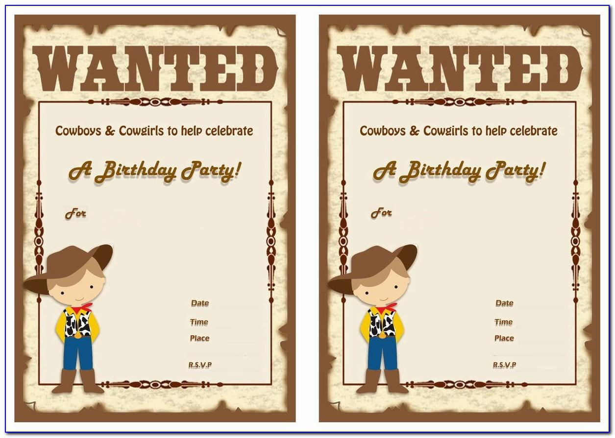Cowboy Themed Invitation Templates Free
