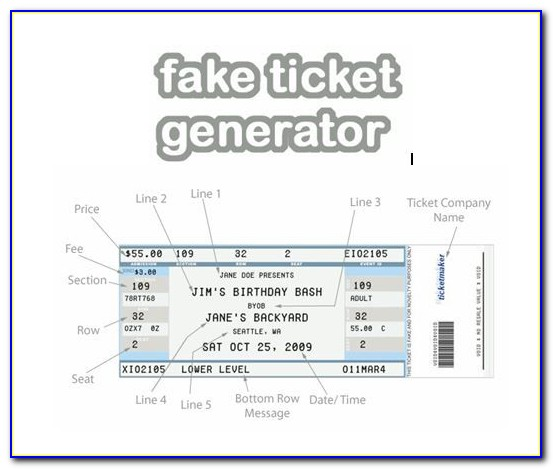 Create Your Own Ticket Template Free