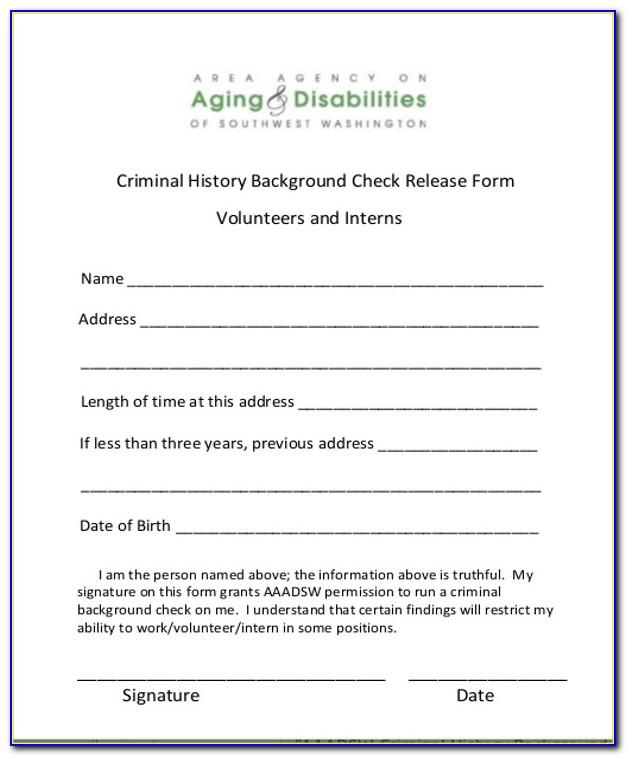 Criminal Background Check Consent Form Template