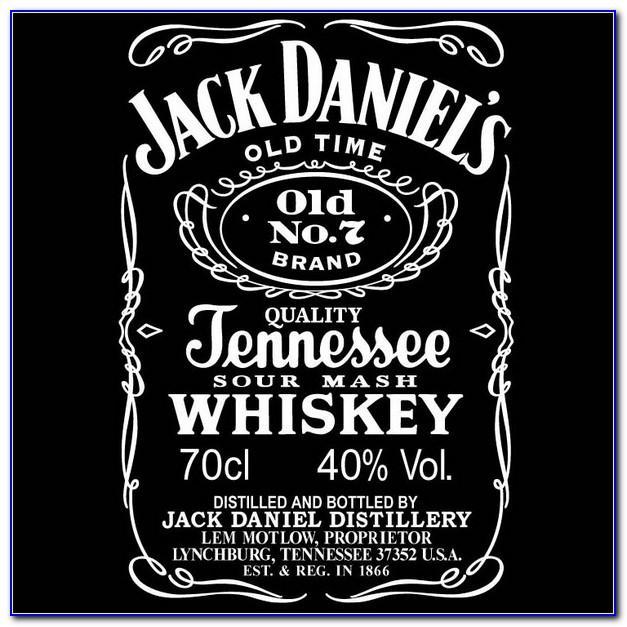 Custom Jack Daniels Label Template Word