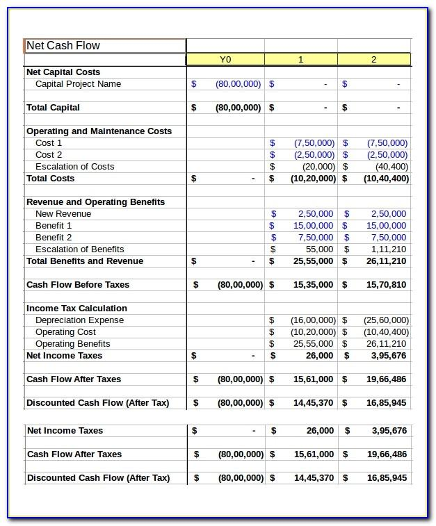 Daily Cash Flow Template Free Download