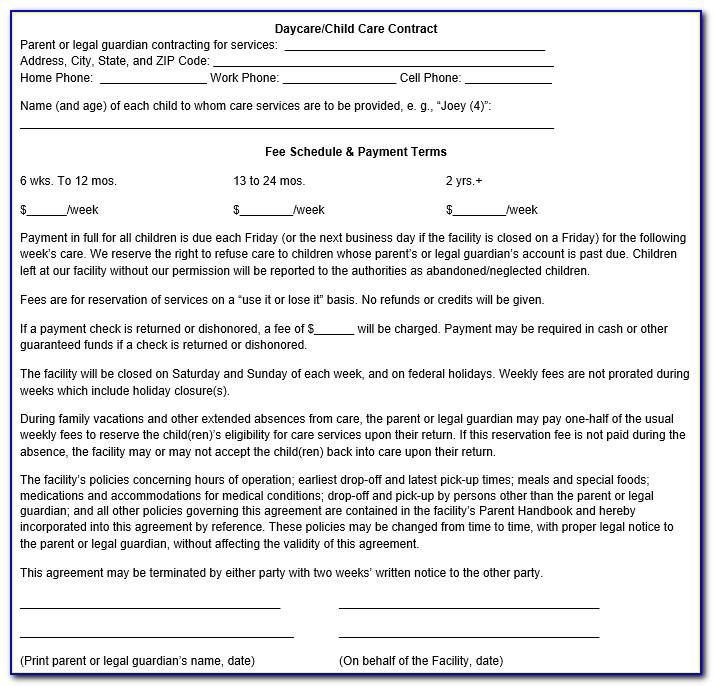 Daycare Contract Doc