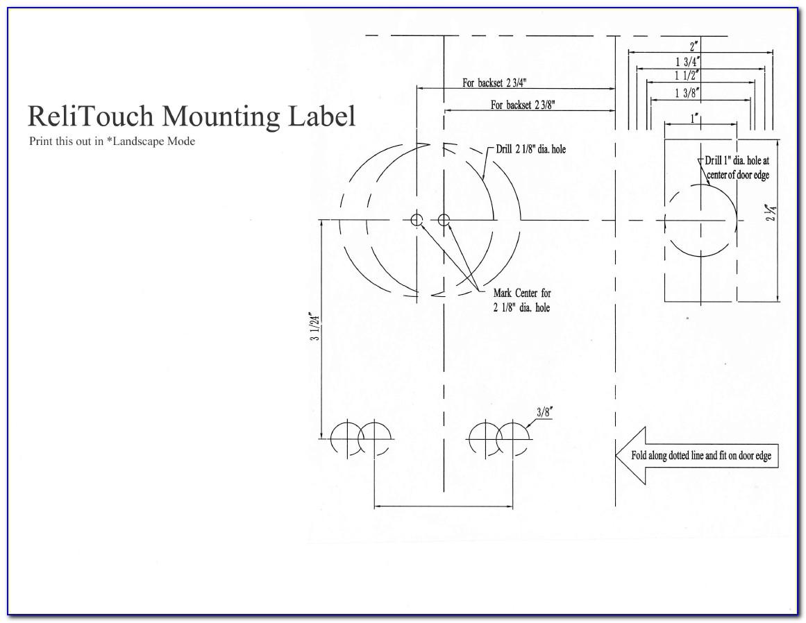 Deadbolt Door Lock Template