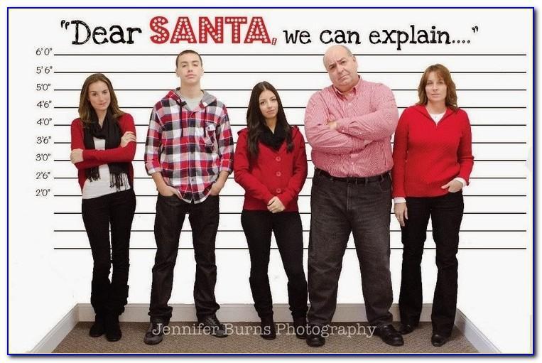 Dear Santa We Can Explain Christmas Card Template