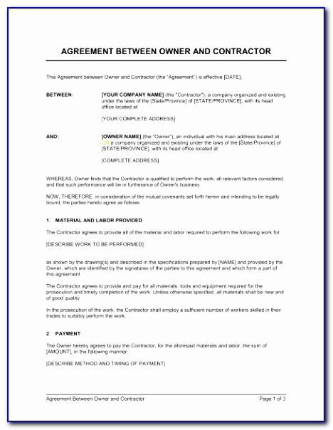 Demolition Contract Samples