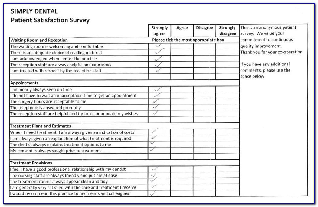 Dental Patient Satisfaction Survey Template Uk