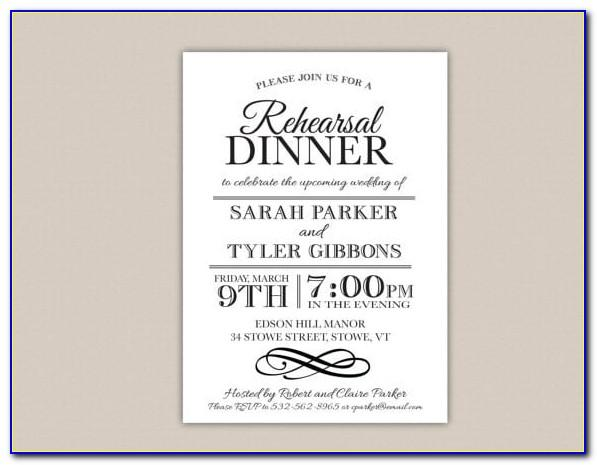 Dinner Invitation Card Templates Free Download