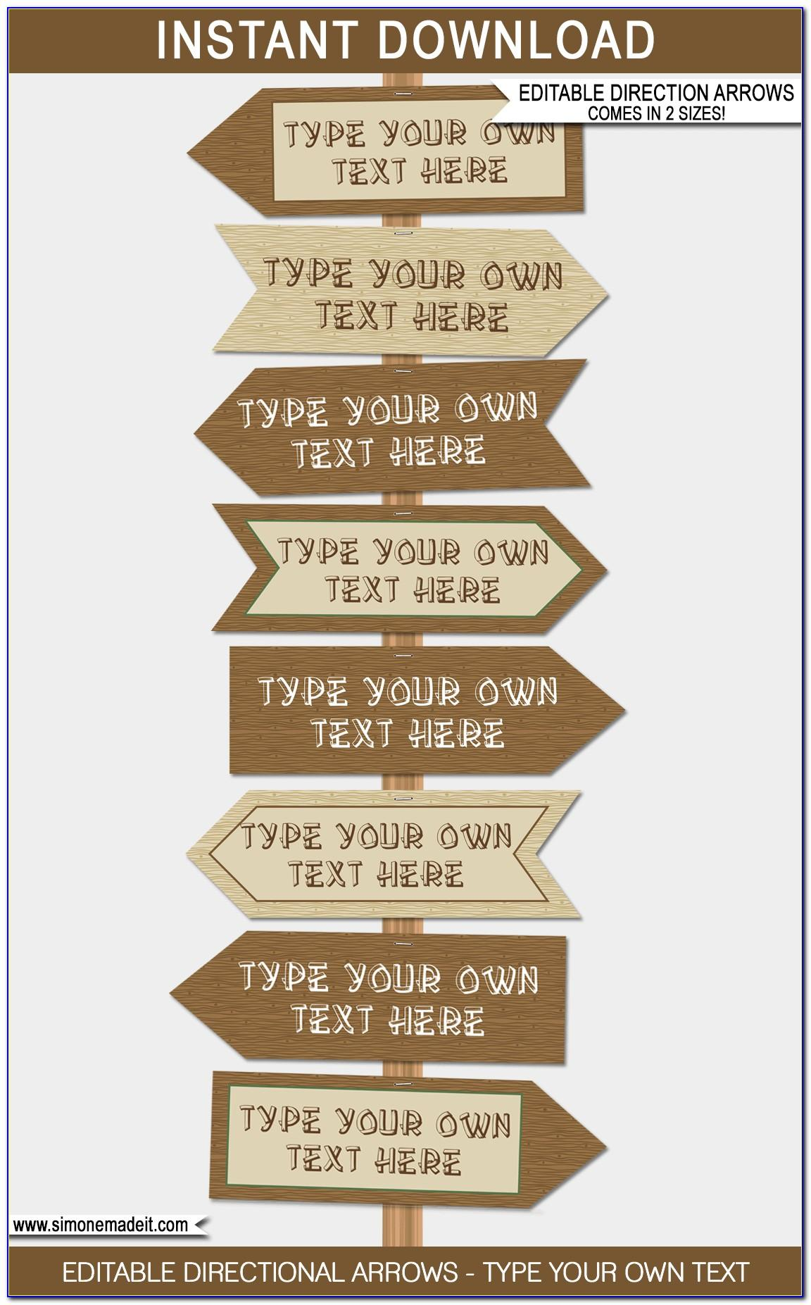 Directional Signs Template