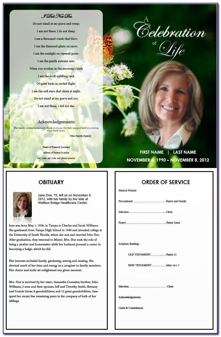 Download Funeral Program Template Free