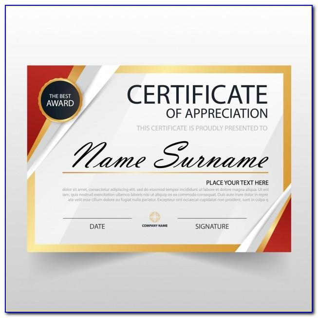 Download Template For Certificate Of Appreciation