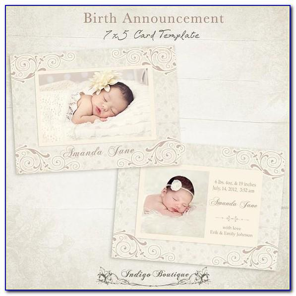 Downloadable Baby Announcement Templates