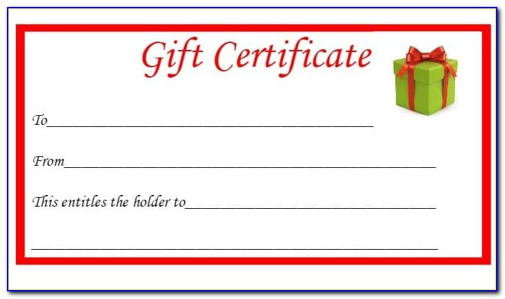 Downloadable Christmas Gift Card Template