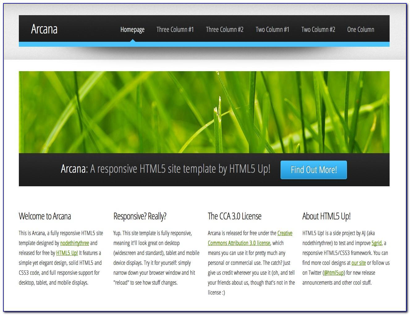 Dreamweaver Website Template Free