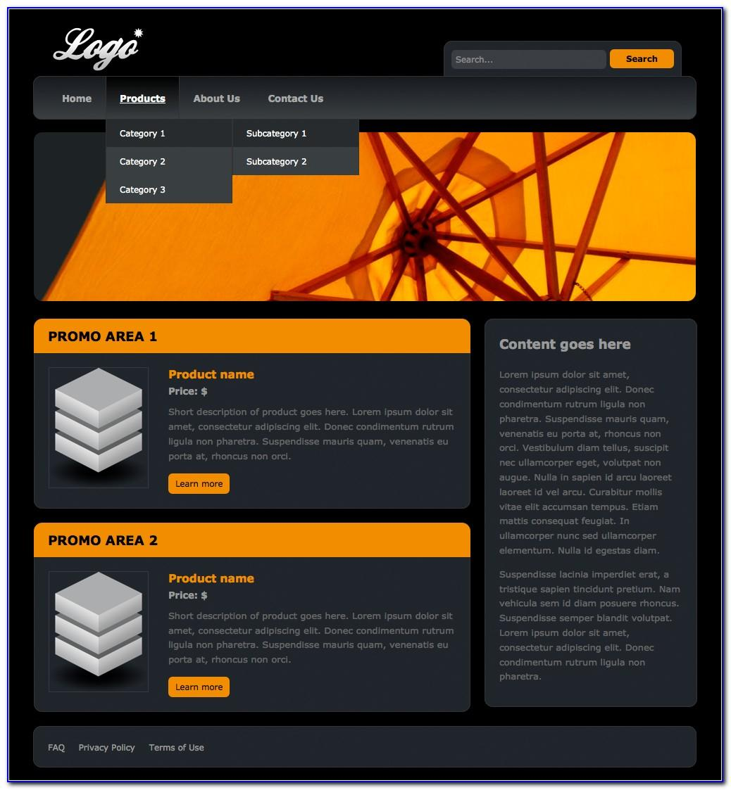 Dreamweaver Website Templates Free