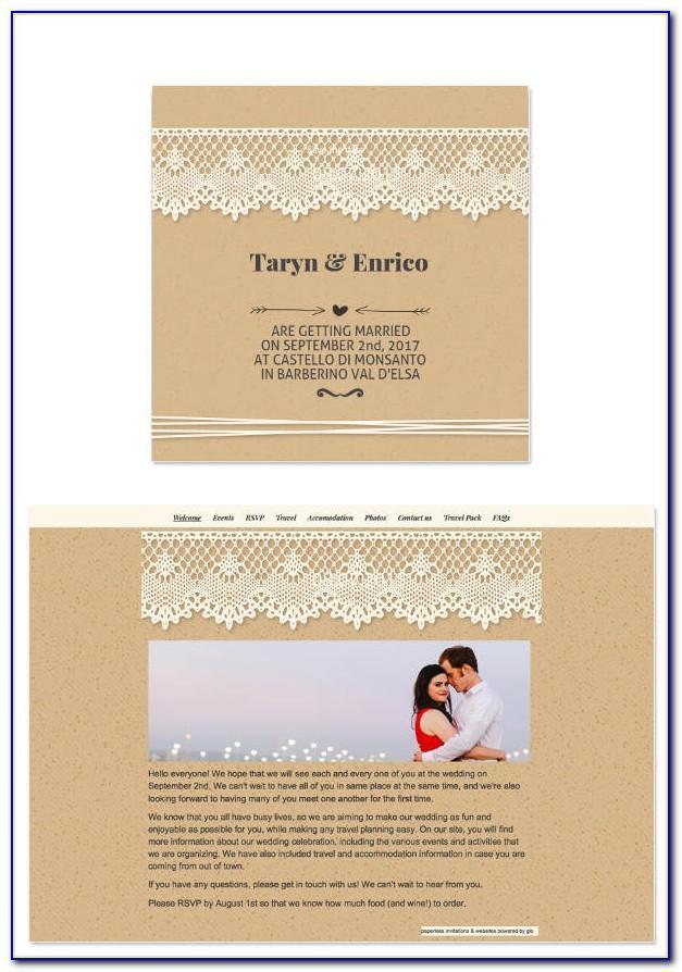 E Invitation Templates For Wedding