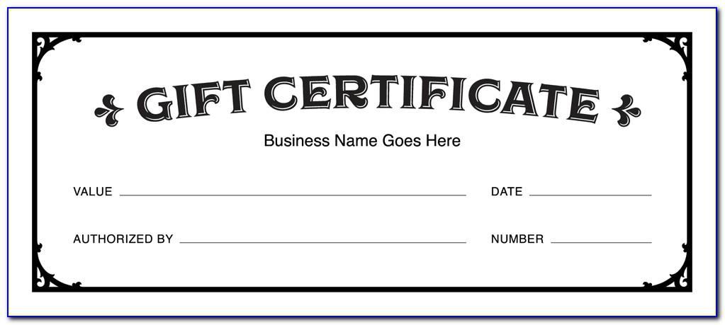 Editable Gift Card Template