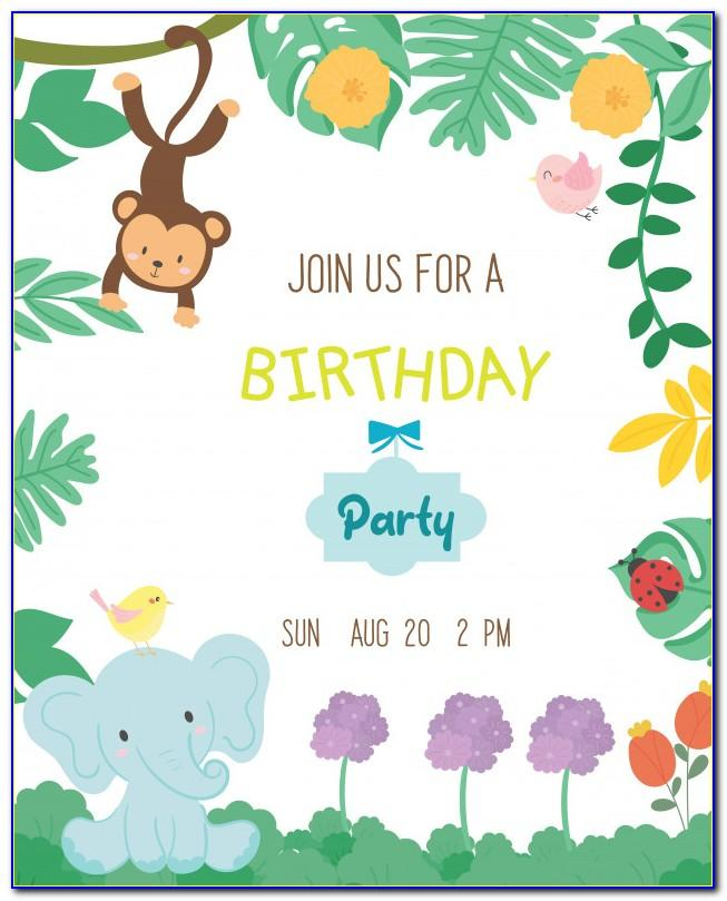 Editable Safari Invitation Template Free