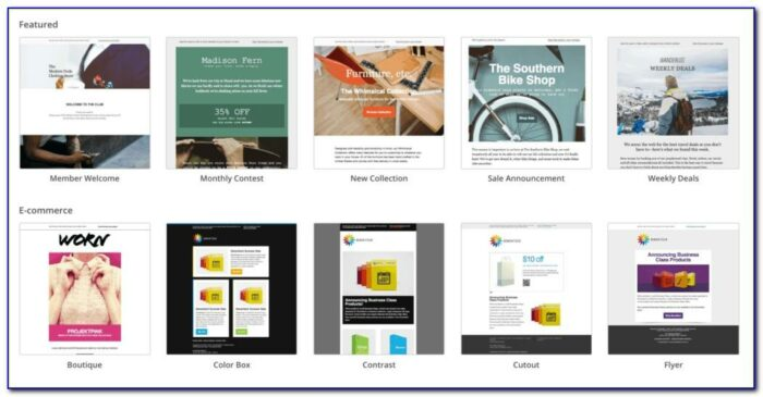 Email Marketing Templates For Mailchimp
