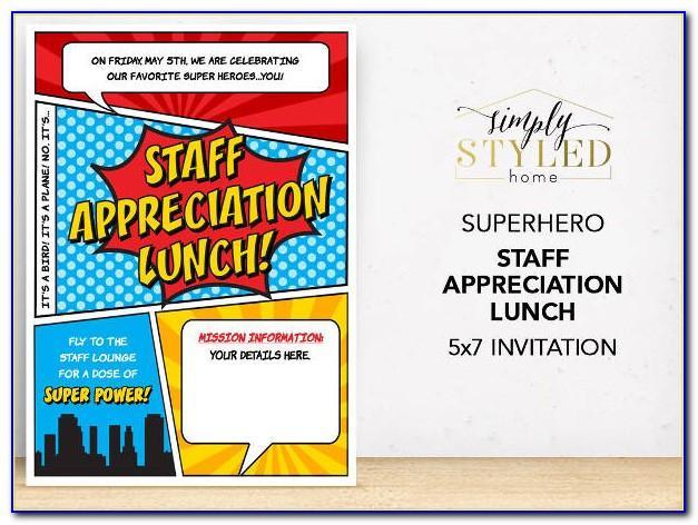 Employee Appreciation Invitation Sample Wording