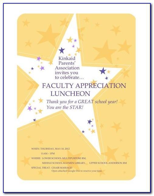Employee Appreciation Invitation Template Free
